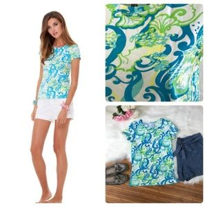 Lilly Pulitzer Karrie seashell and sea waves top